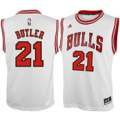 Youth Chicago Bulls Jimmy Butler Blanco Home Camiseta Madrid Tienda