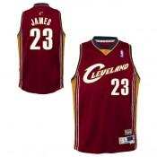 Youth Cleveland Cavaliers Lebron James #23 Hardwood Classics Road Swingman Camiseta Descuento