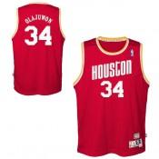 Colección Youth Houston Rockets Hakeem Olajuwon Hardwood Classics Road Swingman Camiseta Baratas