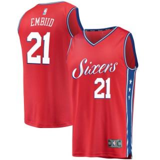 Tienda Youth Philadelphia 76ers Joel Embiid #21 Fanatics Branded Rojo Fast Break Camiseta