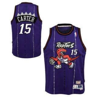 Moda Youth Toronto Raptors Vince Carter Hardwood Classics Road Swingman Camiseta