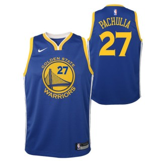 Oficiales Zaza Pachulia - Adolescentes Golden State Warriors Nike Icon Swingman Camiseta de la NBA