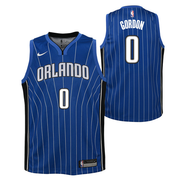 Aaron Gordon - Adolescentes Orlando Magic Nike Icon Swingman Camiseta de la NBA