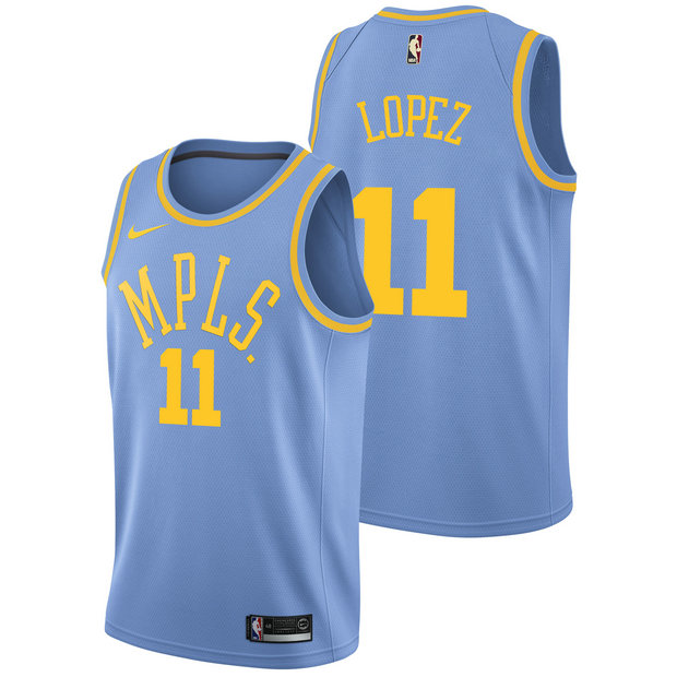 Brook Lopez - Hombre Los Angeles Lakers Nike Classic Edition Swingman Camiseta