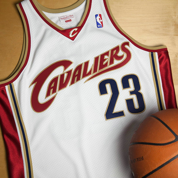 Cleveland Cavaliers Lebron James #23 2003-04 Home Rookie Authentic Camiseta By Mitchell & Ness