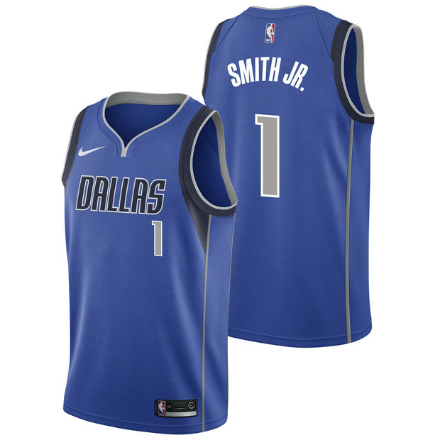 Dennis Smith Jnr - Hombre Dallas Mavericks Nike Icon Swingman Camiseta de la NBA