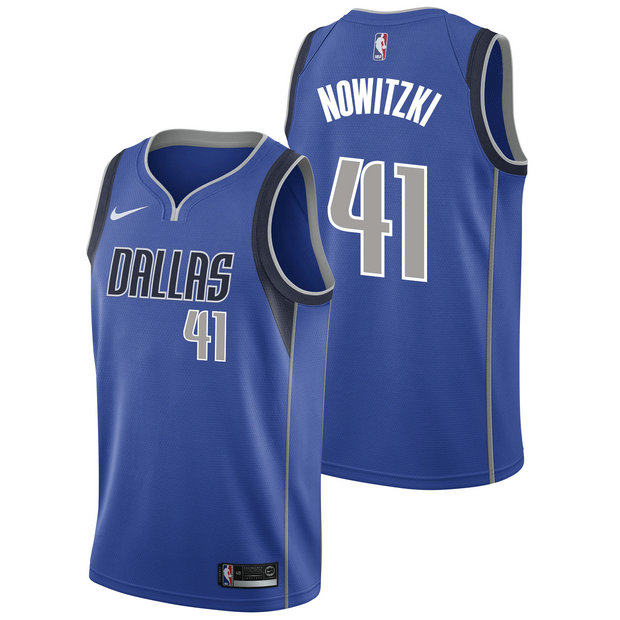 Dirk Nowitzki #41 - Hombre Dallas Mavericks Nike Icon Swingman Camiseta de la NBA