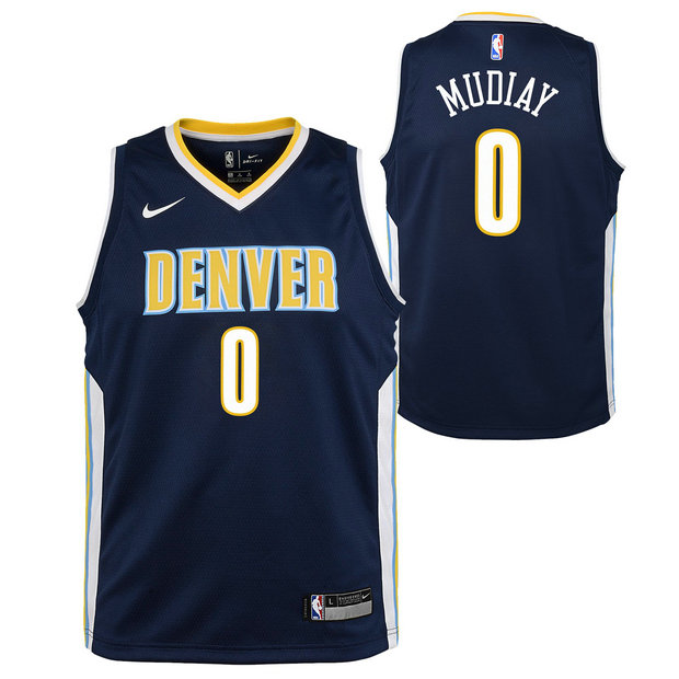Emmanuel Mudiay - Adolescentes Denver Nuggets Nike Icon Swingman Camiseta de la NBA