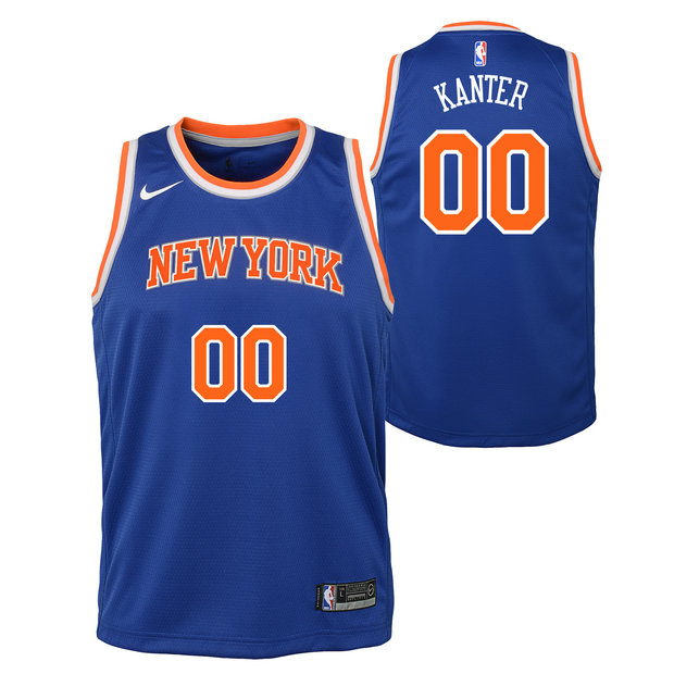 Enes Kanter - Adolescentes New York Knicks Nike Icon Swingman Camiseta de la NBA
