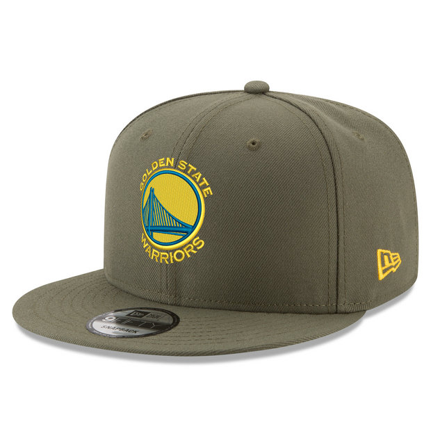 Gorra Golden State Warriors New Era Khaki Stone Team Logo 9FIFTY Snapback Cap