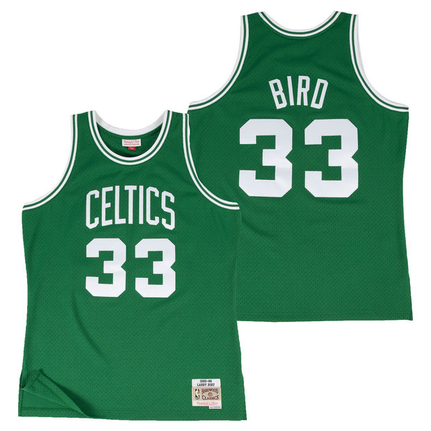 Hombre Boston Celtics Larry Bird Hardwood Road Classics Swingman Camiseta