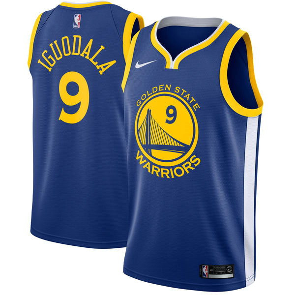 Hombre Golden State Warriors Andrew Iguodala Azul Swingman Camiseta