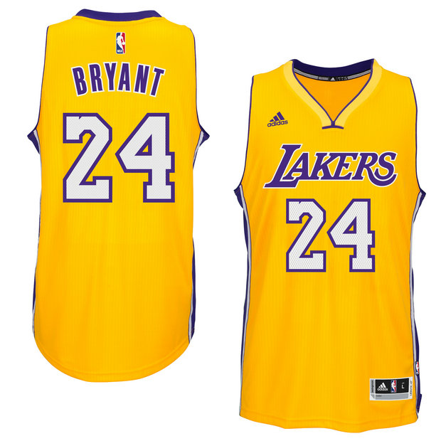 Hombre Los Angeles Lakers Kobe Bryant Gold Player Swingman Home Camiseta