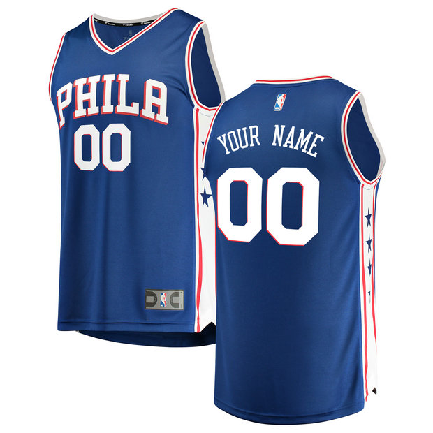 Hombre Philadelphia 76ers Fanatics Branded Royal Fast Break Camiseta Personalizada