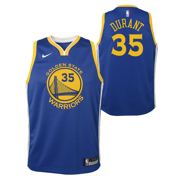 Kevin Durant #35 - Adolescentes Golden State Warriors Nike Icon Swingman Camiseta de la NBA