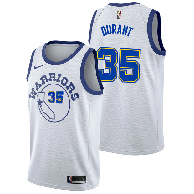 Kevin Durant #35 - Hombre Golden State Warriors Nike Classic Edition Swingman Camiseta