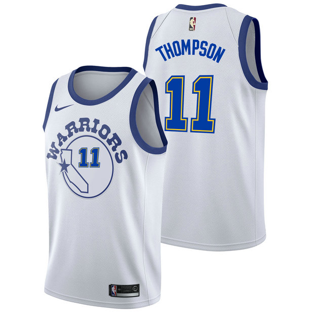 Klay Thompson #11 - Hombre Golden State Warriors Nike Classic Edition Swingman Camiseta