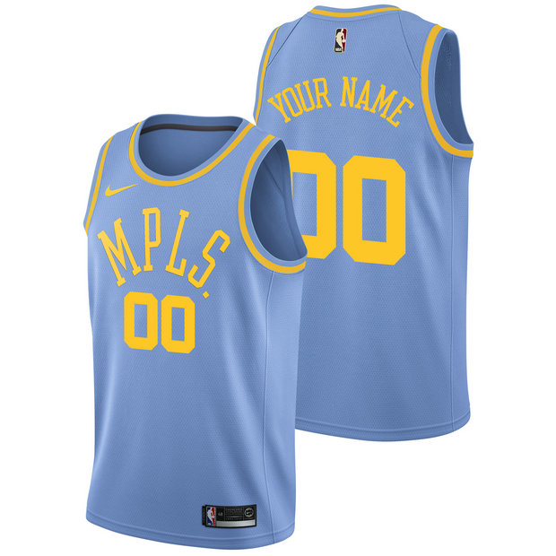 Los Angeles Lakers Nike Hardwood Classics Nights Swingman Camiseta - Personalizada - Hombre