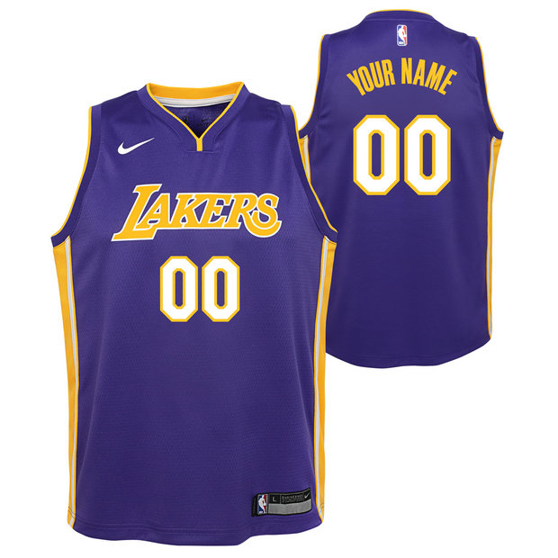 Los Angeles Lakers Nike Statement Swingman Camiseta de la NBA - Personalizada - Adolescentes