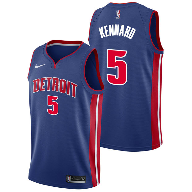 Luke Kennard - Hombre Detroit Pistons Nike Icon Swingman Camiseta de la NBA
