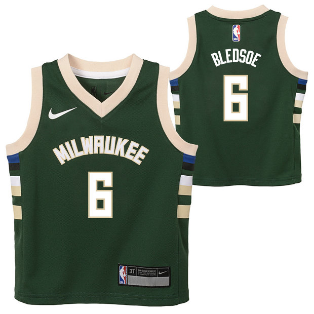 Milwaukee Bucks Nike Icon Replica Camiseta - Eric Bledsoe - Niño