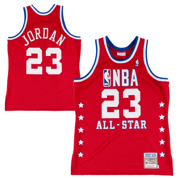 Mitchell & Ness Michael Jordan Chicago Bulls 1988-89 All-Star Hardwood Classics Authentic Vintage Camiseta - Red