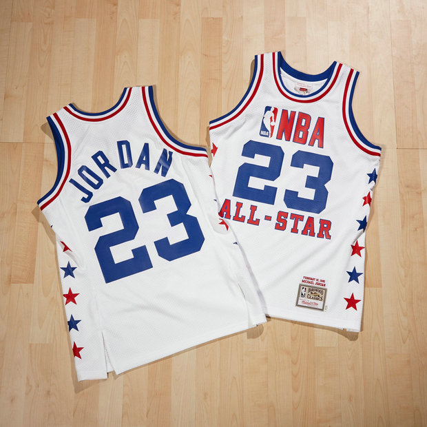 NBA All-Star East Michael Jordan 1985 Authentic Camiseta by Mitchell & Ness