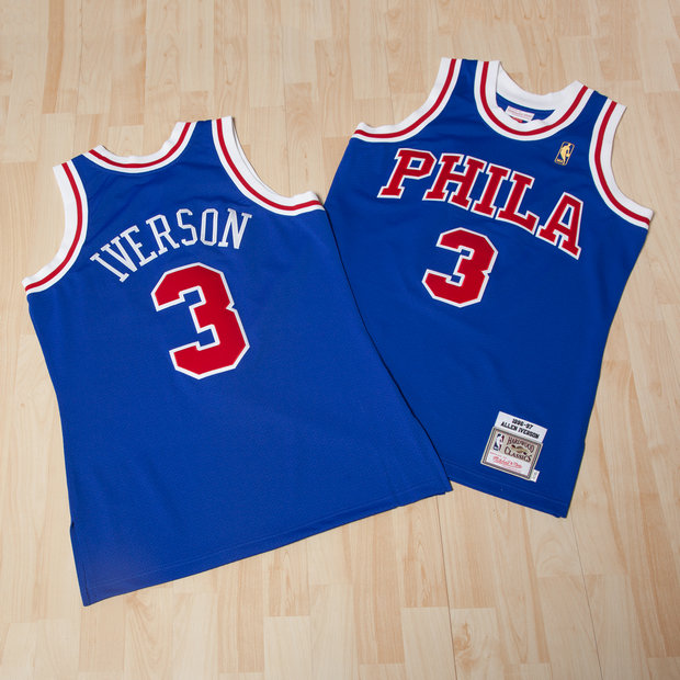 Philadelphia 76ers Allen Iverson 1996-97 Road Authentic Camiseta By Mitchell & Ness