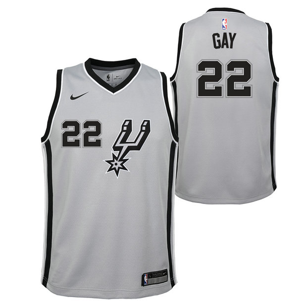 Rudy Gay - Adolescentes San Antonio Spurs Nike Statement Swingman Camiseta de la NBA
