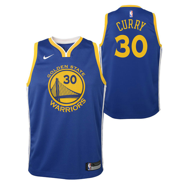 Stephen Curry #30 - Adolescentes Golden State Warriors Nike Icon Swingman Camiseta de la NBA