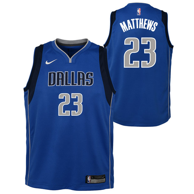 Wesley Matthews - Adolescentes Dallas Mavericks Nike Icon Swingman Camiseta de la NBA