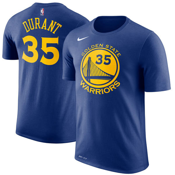 Youth Golden State Warriors Kevin Durant #35 Azul T-Shirt