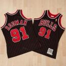 Colección Camiseta auténtica de la 2ª equipación alternativa Chicago Bulls Dennis Rodman 1996-97 de Mitchell & Ness Baratas