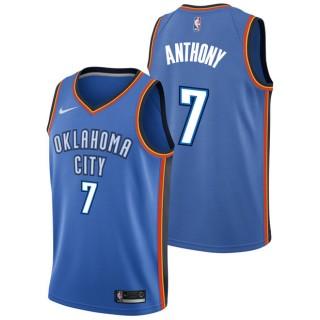 Moda Carmelo Anthony #7 - Hombre Oklahoma City Thunder Nike Icon Swingman Camiseta de la NBA