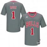 Hombre Chicago Bulls Derrick Rose Gris Pride Swingman Camiseta Barcelona