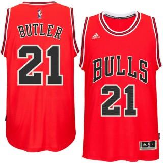 Hombre Chicago Bulls Jimmy Butler Rojo Player Swingman Camiseta Baratas Originales