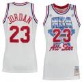 Hombre Chicago Bulls Michael Jordan Mitchell & Ness Blanco 1991 All-Star Hardwood Classics Authentic Camiseta Ventas Baratas Mallorca
