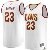 Hombre Cleveland Cavaliers LeBron James #23 Fanatics Branded Blanco Fast Break Camiseta Ventas Baratas Barcelona