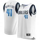 Colección Hombre Dallas Mavericks Dirk Nowitzki Fanatics Branded Blanco Fast Break Camiseta Baratas