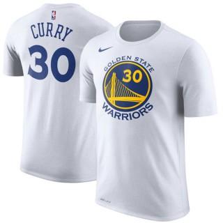 Hombre Golden State Warriors Stephen Curry Blanco Performance T-Shirt Ventas Baratas Oviedo