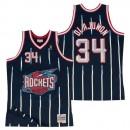 Hombre Houston Rockets Hakeem Olajuwon Hardwood Classics Road Swingman Camiseta Outlet Caspe