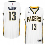 Hombre Indiana Pacers Paul George Blanco Player Swingman Home Camiseta Outlet Store