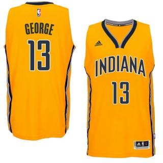 Hombre Indiana Pacers Paul George Gold Player Swingman Alternate Camiseta Precio Al Por Mayor
