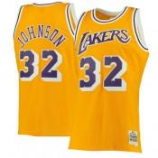 Hombre Los Angeles Lakers Magic Johnson Mitchell   Ness Gold 1984-85 Hardwood  Classics Swingman 6b071e52d89