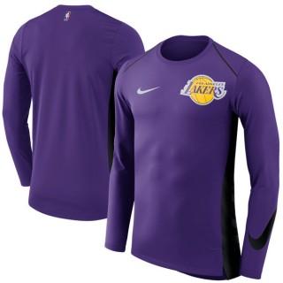 Hombre Los Angeles Lakers Púrpura Elite Shooter Performance Manga larga T-Shirt Precio Barato