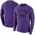 Original Hombre Los Angeles Lakers Púrpura Modern Crew Sweatshirt