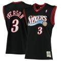 Hombre Philadelphia 76ers Allen Iverson Mitchell & Ness Negro 2000-01 Hardwood Classics Swingman Camiseta Baratas España