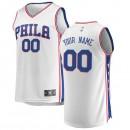 Hombre Philadelphia 76ers Fanatics Branded Blanco Fast Break Camiseta Personalizada Descuento