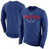 Hombre Philadelphia 76ers Royal Practice Fleece Sudadera Performance Baratas Originales