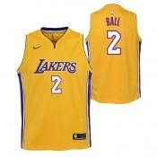 Lonzo Ball #2 - Adolescentes Los Angeles Lakers Nike Association Swingman Camiseta de la NBA Outlet Caspe